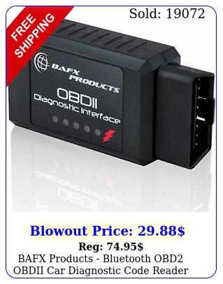 bafx products bluetooth obd obdii car diagnostic code reader scanner too