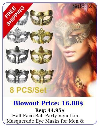 half face ball party venetian masquerade eye masks men women silver gol
