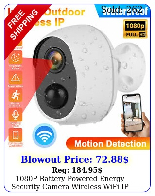 p battery powered energy security camera wireless wifi ip home full hd cct