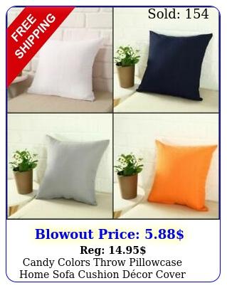 candy colors throw pillowcase home sofa cushion dcor cover case