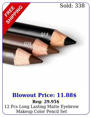 pcs long lasting matte eyebrow makeup color pencil set blackbrowndark brow
