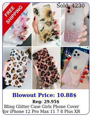 bling glitter case girls phone cover iphone pro max  plus xr xs ma