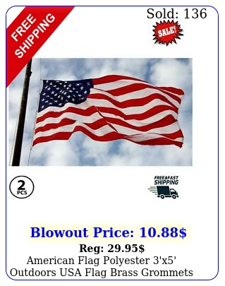 american flag polyester 'x' outdoors usa flag brass grommets waterproof pac
