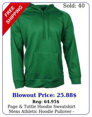 page tuttle hoodie sweatshirt mens  athletic hoodie pullover green siz