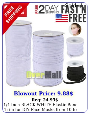 inch black white elastic band trim diy face masks from to yard