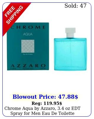 chrome aqua by azzaro oz edt spray men eau de toilett