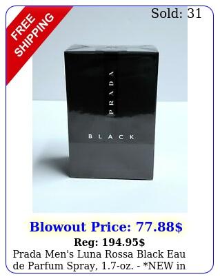 prada men's luna rossa black eau de parfum spray oz new i