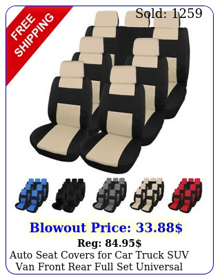 auto seat covers car truck suv van front rear full set universal compatibl