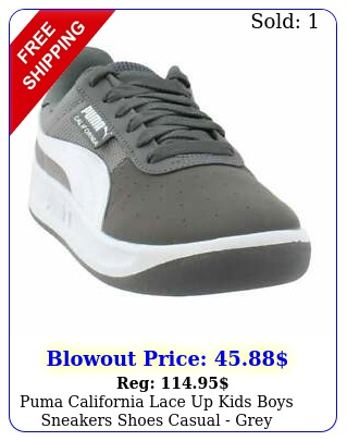 puma california lace up  kids boys sneakers shoes casual  gre