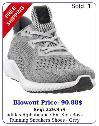 adidas alphabounce em  kids boys running sneakers shoes   gre