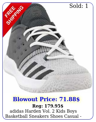 adidas harden vol  kids boys basketball sneakers shoes casual  gre