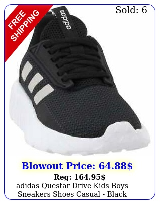 adidas questar drive kids boys sneakers shoes casual  blac