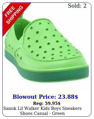 sanuk lil walker kids boys sneakers shoes casual  gree