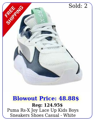puma rsx joy lace up  kids boys sneakers shoes casual  whit
