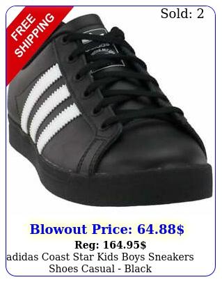 adidas coast star  kids boys sneakers shoes casual  blac