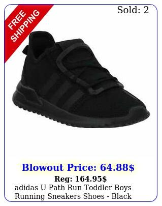 adidas u path run  toddler boys running sneakers shoes   blac