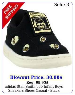 adidas stan smith  infant boys sneakers shoes casual  blac