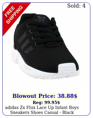 adidas zx flux lace up  infant boys sneakers shoes casual  blac