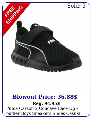 puma carson concave lace up  toddler boys sneakers shoes casual  blac