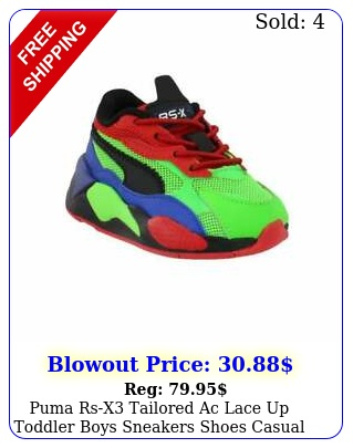 puma rsx tailored ac lace up  toddler boys sneakers shoes casual  mult