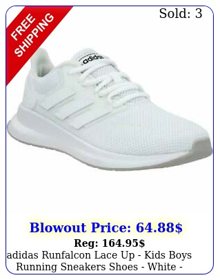 adidas runfalcon lace up   kids boys running sneakers shoes   white siz