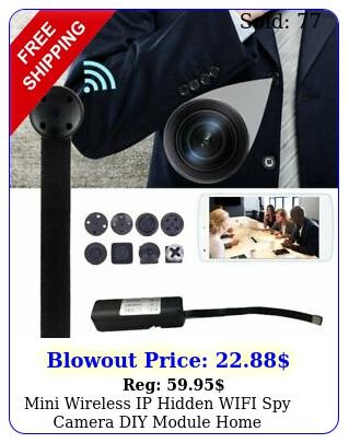 mini wireless ip hidden wifi spy camera diy module home surveillance camcorde