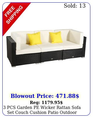 pcs garden pe wicker rattan sofa set couch cushion patio outdoor furniture u