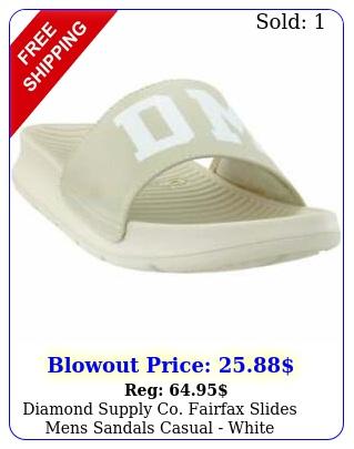 diamond supply co fairfax slides mens sandals casual  whit