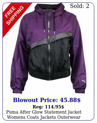 puma after glow statement jacket womens coats jackets outerwear casual jacke