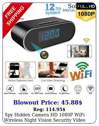spy hidden camera hd p wifi wireless night vision security video cam alar