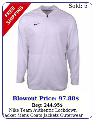nike team authentic lockdown  jacket mens coats jackets outerwear casual