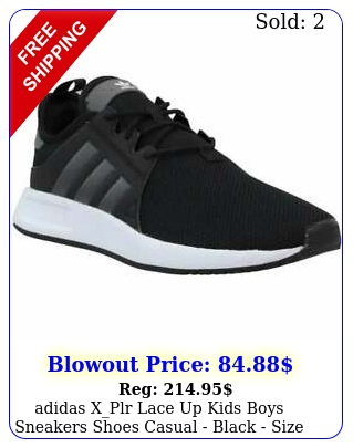 adidas xplr  lace up kids boys sneakers shoes casual  black size