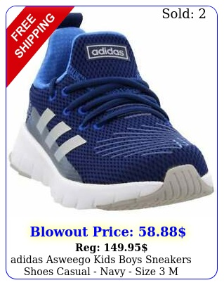 adidas asweego kids boys sneakers shoes casual  navy size