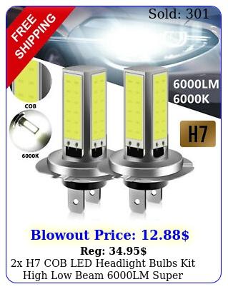 x h cob led headlight bulbs kit high low beam lm super bright k whit