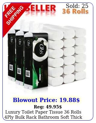 luxury toilet paper tissue rolls ply bulk rack bathroom soft thick househol