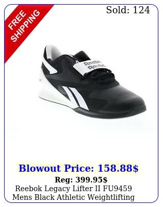reebok legacy lifter ii fu mens black athletic weightlifting shoe