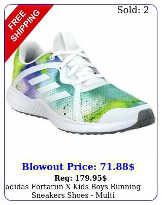 adidas fortarun x  kids boys running sneakers shoes   mult
