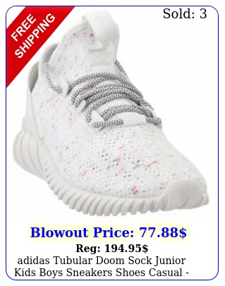 adidas tubular doom sock junior kids boys sneakers shoes casual  whit