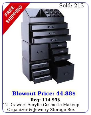 drawers acrylic cosmetic makeup organizer jewelry storage display cas