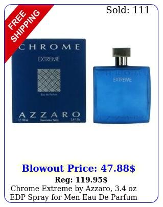chrome extreme by azzaro oz edp spray men eau de parfu