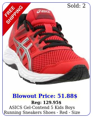 asics gelcontend   kids boys running sneakers shoes   red size