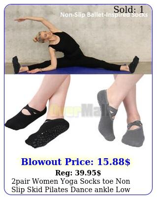 pair women yoga socks toe non slip skid pilates dance ankle low socks slipper