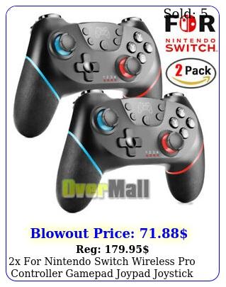 x nintendo switch wireless pro controller gamepad joypad joystick remote