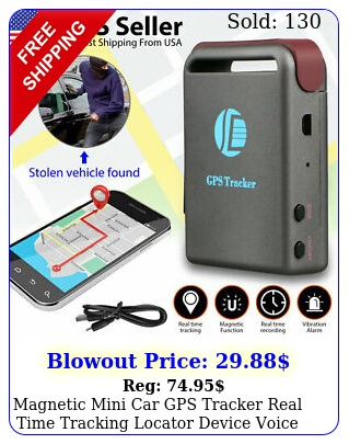 magnetic mini car gps tracker real time tracking locator device voice record so