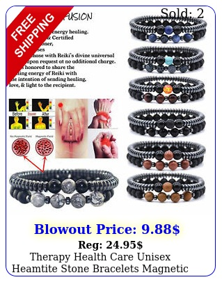 therapy health care unisex heamtite stone bracelets magnetic weight lose jewelr