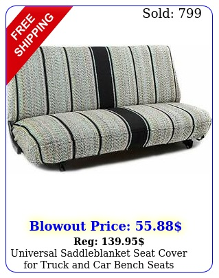 universal saddleblanket seat cover truck car bench seats various color