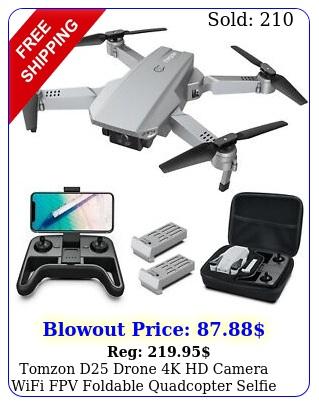 tomzon d drone k hd camera wifi fpv foldable quadcopter selfie drone
