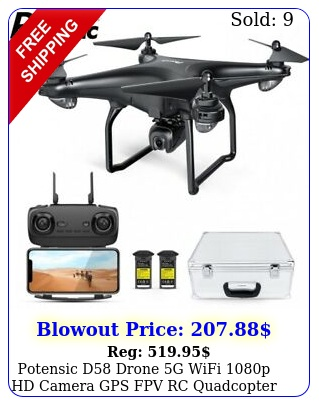 potensic d drone g wifi p hd camera gps fpv rc quadcopter follow m