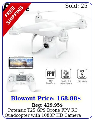 potensic t gps drone fpv rc quadcopter with p hd camera wifi fpv drone