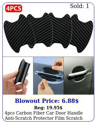 pcs carbon fiber car door handle antiscratch protector film scratch sticker u